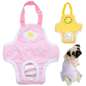 Female Pet Dog Strap Pants Underwear Washable Menstrual Sanitary Nappy Diaper