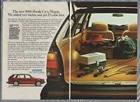 1980 HONDA CIVIC Wagon 2-page advertisement, fishing gear in back Honda Civic ad