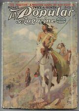 Vintage Pulp~THE POPULAR MAGAZINE~Sept.15, 1912 Frederick Niven/Jacques Futrelle