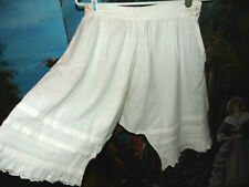 Antique Victorian Edwardian Embroidered Flouncy Pleated Ruffle Dress Bloomers