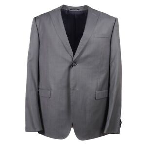 NWT $1545 Z ZEGNA 'Drop 7' Medium Gray Micro Stripe Wool Suit 44 R (Eu 54)
