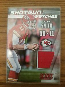 2014 Score Shotgun Swatches Alex Smith Red Jersey Card  Kansas City Chiefs