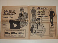 VINTAGE 1975 JC PENNEY ADVERTISING FLYER! SHIRTS/SHOES/LEISURE SUITS/BIKES &MORE