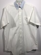 Men's Brooks Brothers Button Down Short Sleeve Casual Dress Shirt Size 16-D115