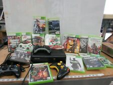 Xbox 360 S Black Console lot w/ Games Accessories Needs Work 4870K