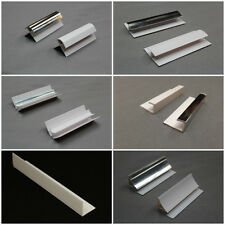 Trims for Bathroom Panels White & Chrome All Types PVC End Caps, Angles,Coving