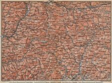 DOLOMITE ALPS DOLOMITI Brixen Bressanone Kronplatz Val Gardena Cortina 1899 map