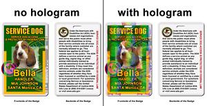 Service Dog photo ID Symbol ADA green Badge wallet card ID
