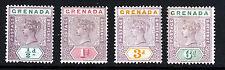 GRENADA Queen Victoria 1895-99 Keyplate Wmk Crown CA Part Set SG 48 - SG 53 MINT