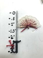 Doll House Sword Laced Paper Fan Wall Deco Room Deco Ect