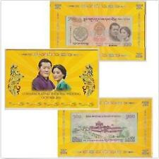 Bhutan 100 Ngultrum Oct 2011, Commemorating The Royal Wedding in folder (UNC) 3