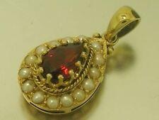 Garnet Vintage & Antique Jewellery Pendant 9k Metal Purity