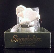 "Department 56 Snowbabies ""Sweetheart"" Figurine Bisque Hinged Box"