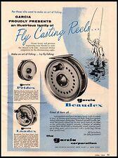1958 Garcia Fly Reels Pridex Landex Beaudex models Vintage Print Ad