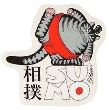 vtg Kliban Sumo Cat sticker/decal - G9 - 1010630-01