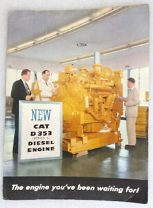 "Caterpillar The ""NEW"" D353 Diesel Engine Brochure"
