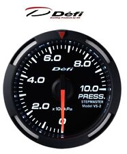 Defi Racer 52mm Car Oil Temperature Gauge - White - JDM Style Stepper Motor