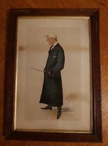 Framed Antique Vanity Fair Spy Print 1884 The Baby Arthur Coventry Jockey Art