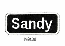Sandy Iron on Name Tag Patch for Biker Jacket and Vest NB138