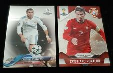 2014 Prizm World Cup Soccer Cristiano Ronaldo 2 Card Topps Chrome Lot Portugal
