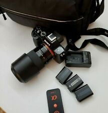 Sony a7s/ Battery*3/Charger/ Remote/ Bag & Sony SEL 55210 lens