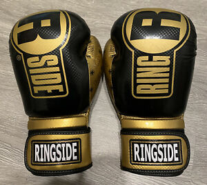 GENTLY USED Ringside Apex FTG1 Boxing Gloves - Gold/Black L/XL