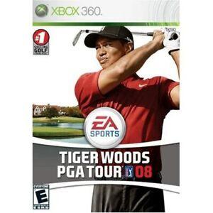 Tiger Woods PGA Tour 08 For Xbox 360 Golf Very Good 4E