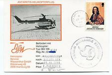Polarstern Helicopter BO-105 Halley Bay Folkerst Polar Antarctic Cover SIGNED