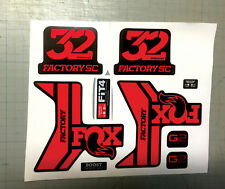 forcella Fox 32 Factory SC rosso lucido G2 - adesivi/adhesives/stickers/decal