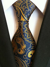(nt138) 100% Silk Blue Floral Men Necktie Wedding Office Business Prom on Tie