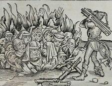 INKUNABEL,SCHEDEL WELTCHRONIK,LATEINISCHE AUSGABE BLATT CCXX,1493,SELTEN