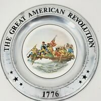 VTG 1976 Pewter Plate The Great American Revolution 1776 Washington Crossing