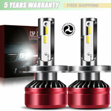 H4 LED Headlight Bulbs Conversion Kit 60W 6000K White Bulbs High Power US
