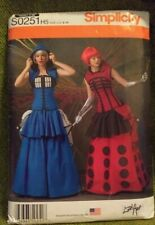 UNCUT Women's  Pattern Tardis Costume, Simplicity S0251, Sizes 6-14, Collectible