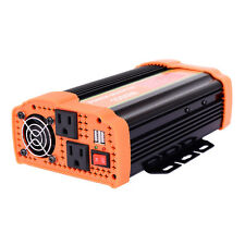 1000W Power Inverter DC 12V to AC 110V Car Adapter with 2.1A 2 USB Charging