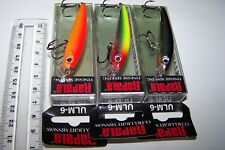 RAPALA FISHING LURES LOT OF 3, ULM-6 ULTRA LIGHT MINNOW . Bass, Perch, Trout. *