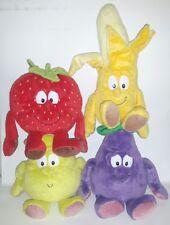 4 VITAMINI MELANZANA PERA BANANA FRAGOLA PELUCHE Fruit goodness gang plush