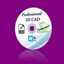 Professional CAD Software AUTOCAD 2D CAD PC WINDOWS  XP VIsta 7 8 10 Mac OSX
