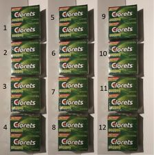 Clorets Breath Freshening Gum 12 x 12 units - Chicles (Pack of 12)