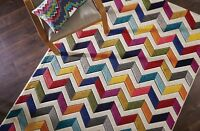 Spectrum Bolero Vibrant Multi Coloured Rug in various sizes runner & circle