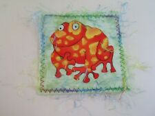 Good Quirky Handmade Postcard FROG Theme - Unposted    §D949