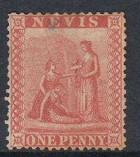 NEVIS Queen Victoria 1866-76 1d. Pale Red White Paper Perf.15 SG9 - FINE USED