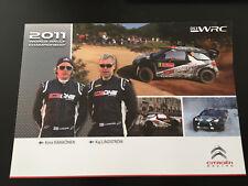 CP POSTCARD CARTOLINA CITROEN DS3 WRC RAIKKONEN RALLYE CATALOGNE 2011 RALLY