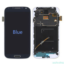 LCD Touch Digitizer Screen Glass Frame for Samsung Galaxy S4 i545 L720 R970 Blue