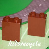 Lego DUPLO Brown 1x2x2 Bricks BLOCK LOT (2 Pieces) Spare Part 4066