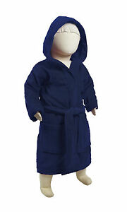 byLora Velour Cotton Terry Hooded Kids Robe, Embroidery available