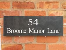 Extra Large Slate House Gate Door Plaque Sign 600mm x 200mm  ANY NAME / NUMBER