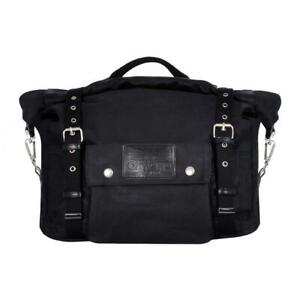Oxford Motorcycle Bike Heritage Panniers With Easy Grab Carry Handle 40L- Black