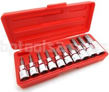 "10pc 3/8"" & 1/2"" Drive Hex Key Allen Head (METRIC) Socket Bit Set 3-16 MM"