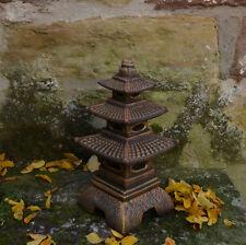 Massive japanische Steinlaterne Pagode Farbe exclusiv aus Steinguss frostfest